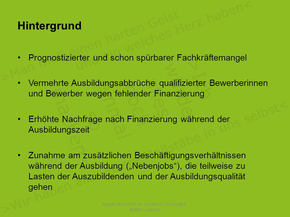 Sophie-Scholl-Schule Leutkirch, Öschweg 5, 88299 Leutkirch