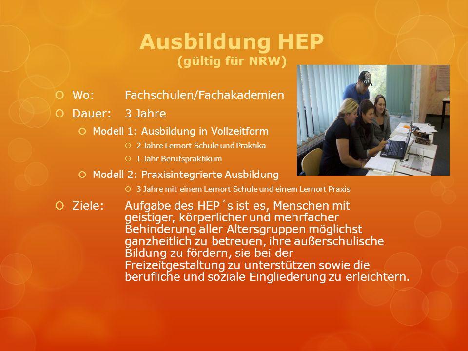 Ausbildung HEP (gültig für NRW)