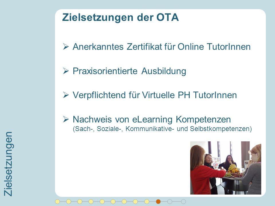 Zielsetzungen der OTA Zielsetzungen