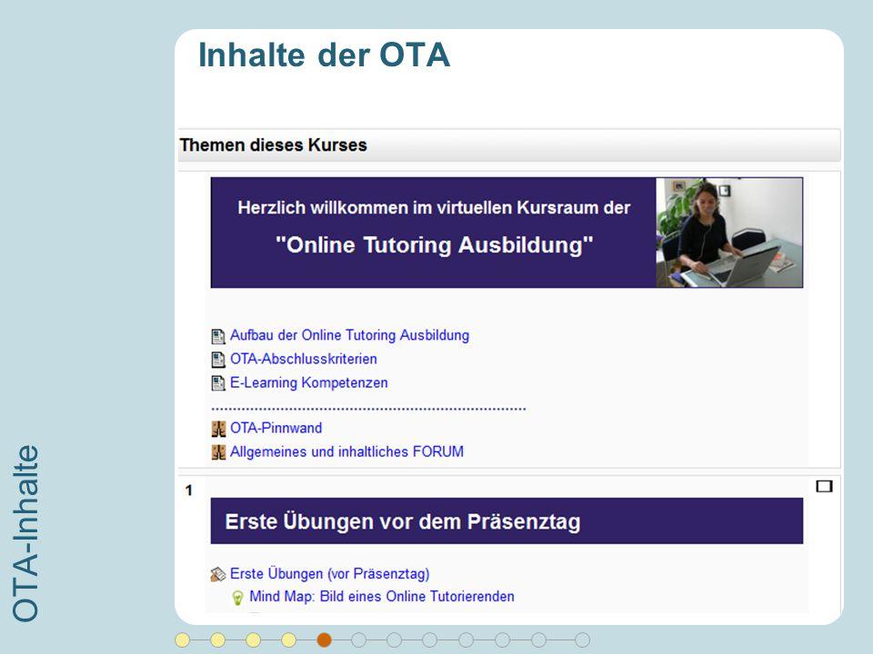 Inhalte der OTA OTA-Inhalte Moderation lernen (Forum, Chat, Wiki, …)