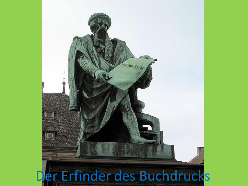 Der Erfinder des Buchdrucks