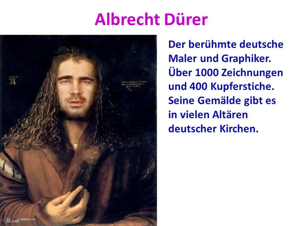 Albrecht Dürer Der berühmte deutsche Maler und Graphiker.