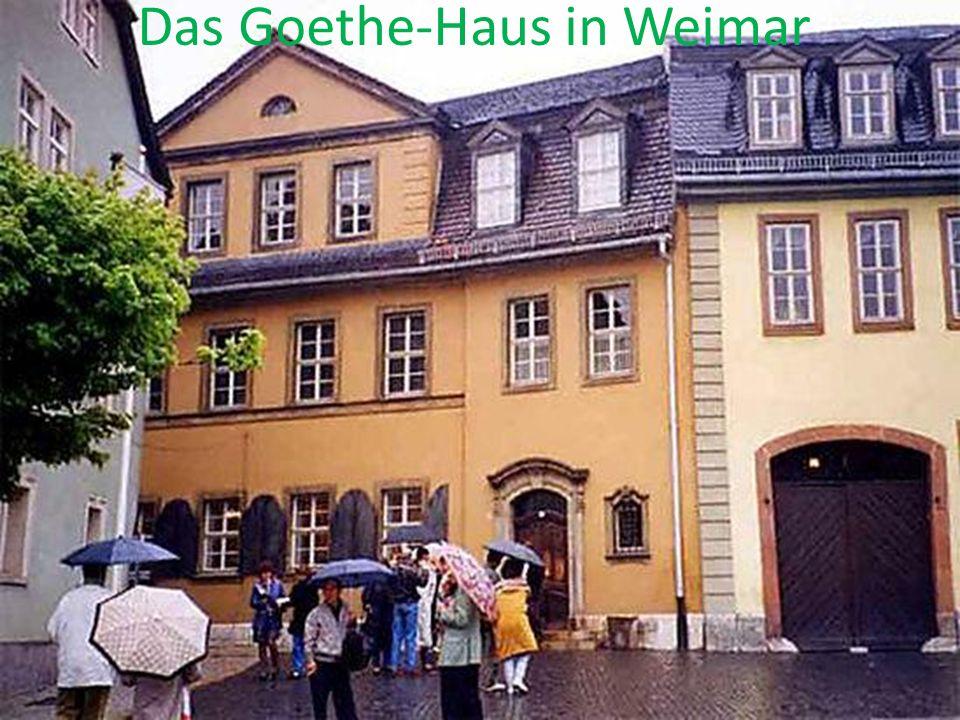 Das Goethe-Haus in Weimar