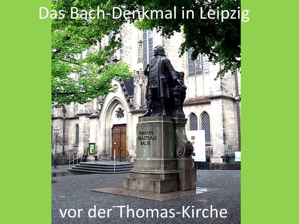 Das Bach-Denkmal in Leipzig