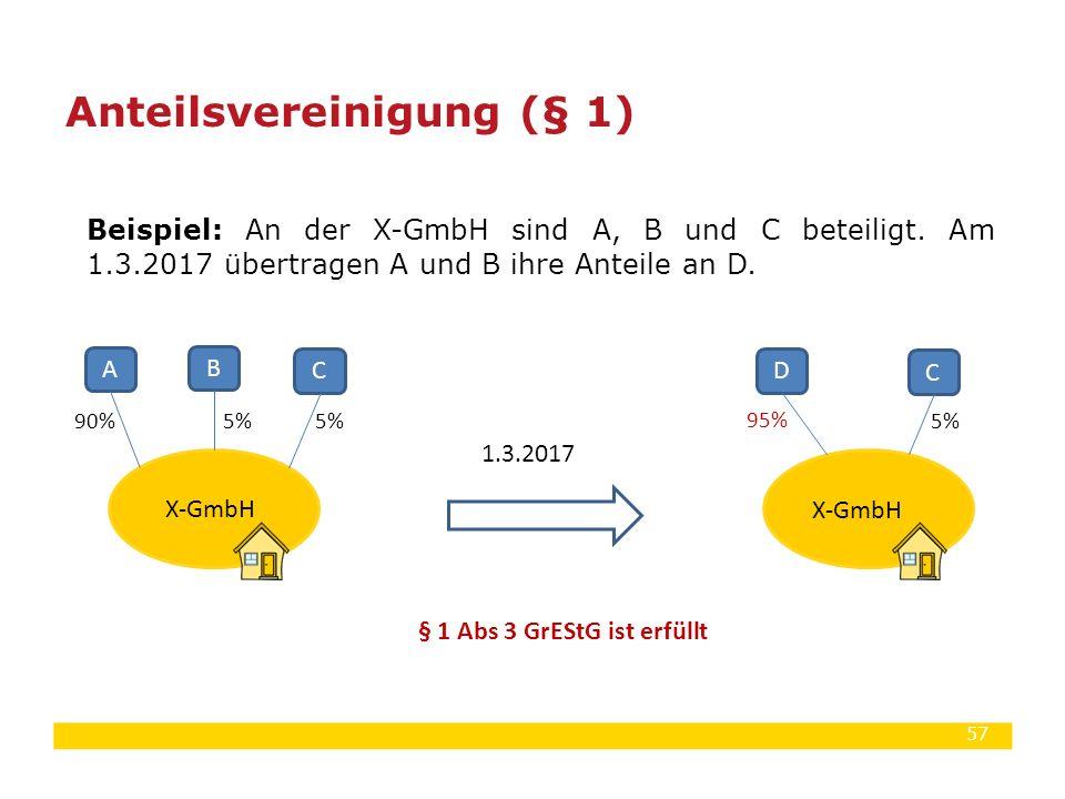 Anteilsvereinigung (§ 1)