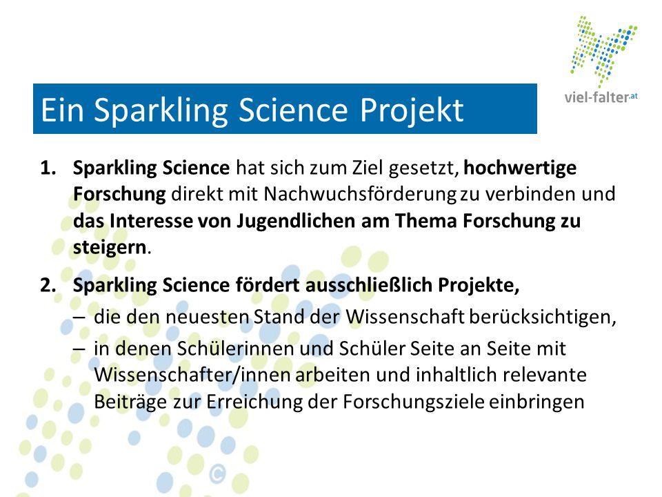 Ein Sparkling Science Projekt