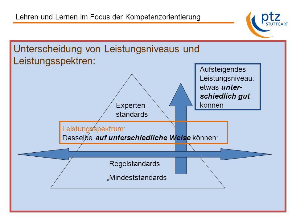 Unterscheidung von Leistungsniveaus und Leistungsspektren: