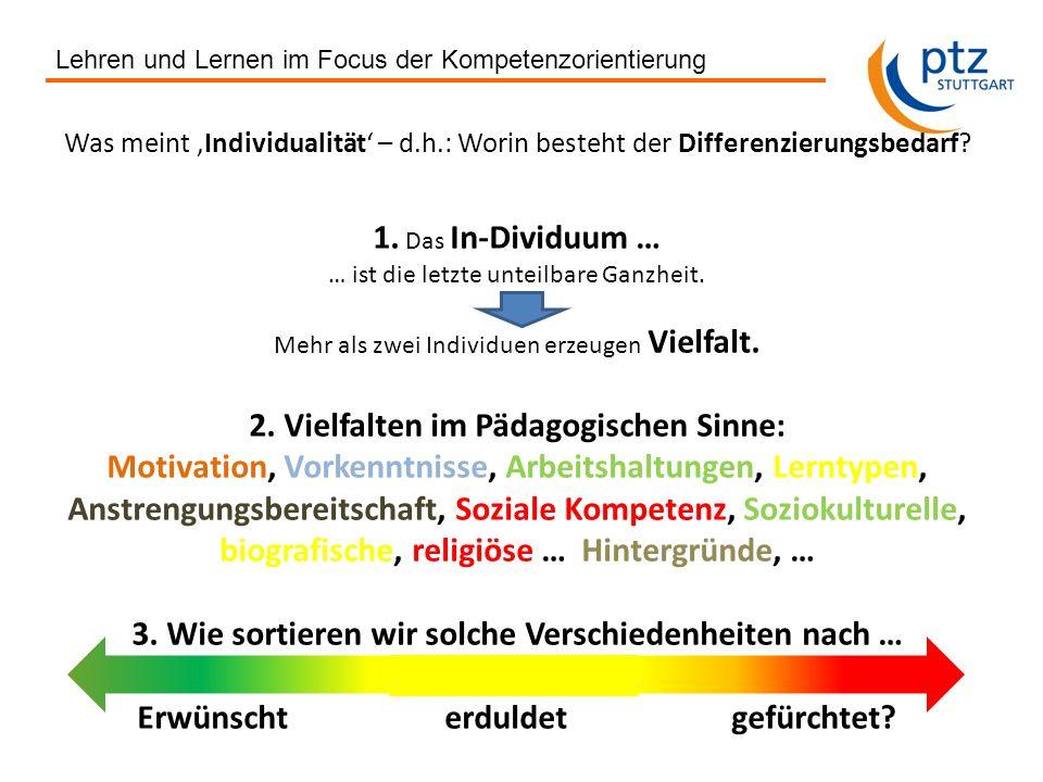 2. Vielfalten im Pädagogischen Sinne: