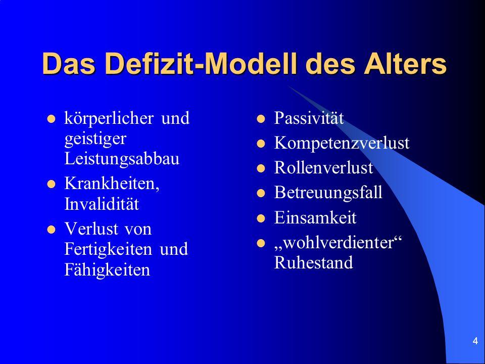 Das Defizit-Modell des Alters