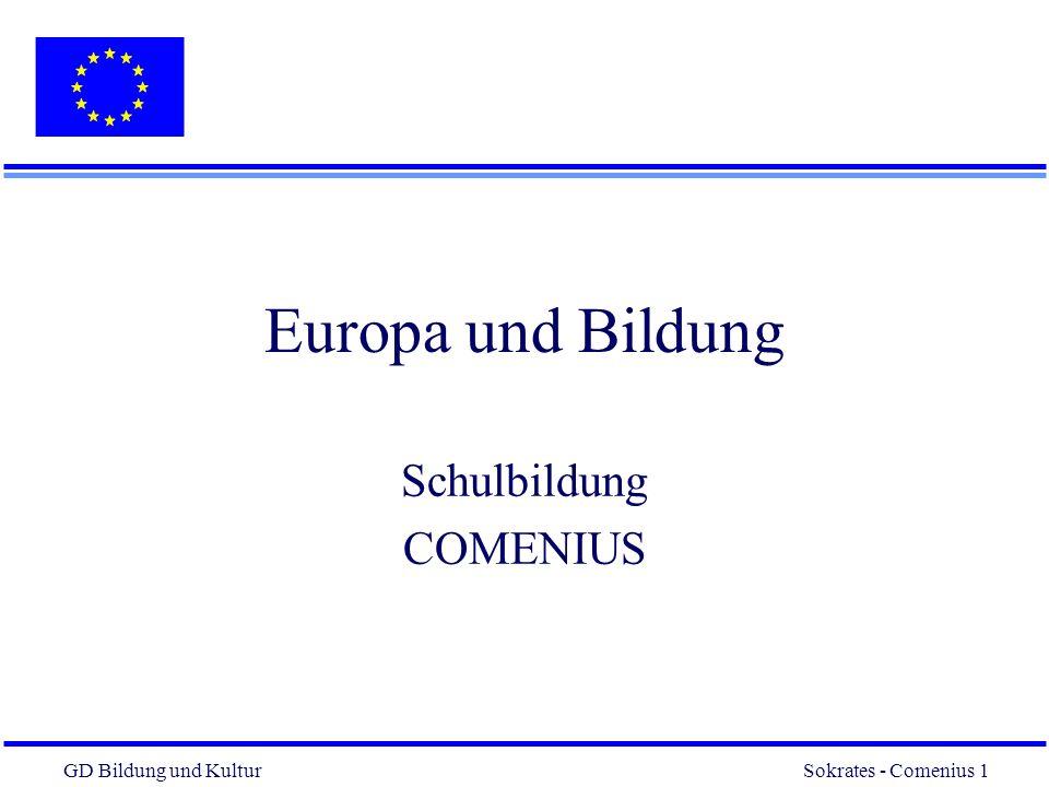 Europa und Bildung Schulbildung COMENIUS