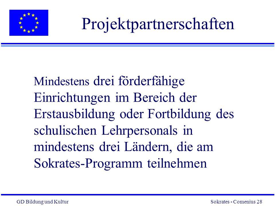 Projektpartnerschaften
