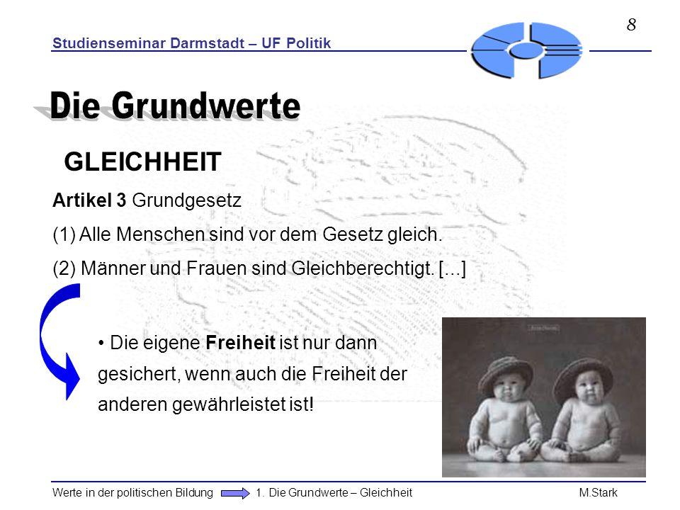 Die Grundwerte GLEICHHEIT Artikel 3 Grundgesetz