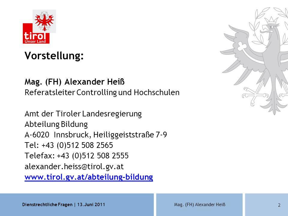 Vorstellung: Mag. (FH) Alexander Heiß