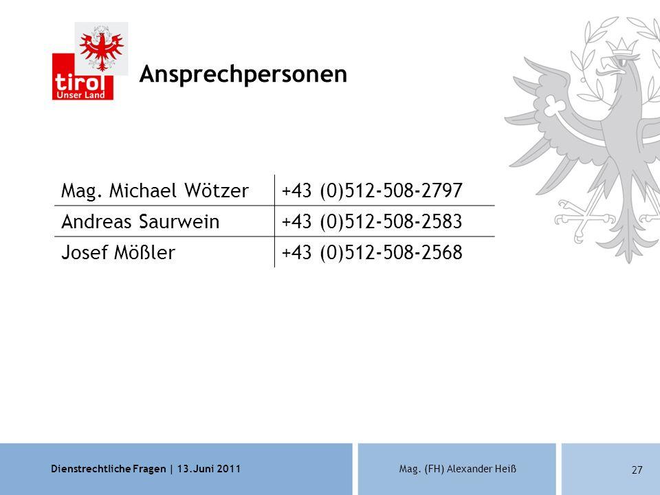 Ansprechpersonen Mag. Michael Wötzer +43 (0)512-508-2797
