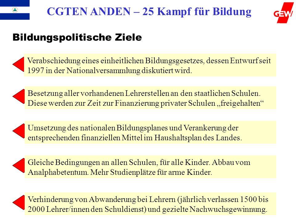CGTEN ANDEN – 25 Kampf für Bildung