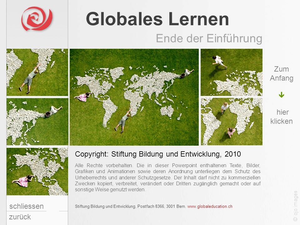 Globales Lernen Ende der Einführung Zum Anfang