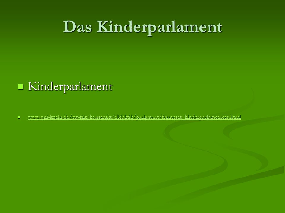 Das Kinderparlament Kinderparlament