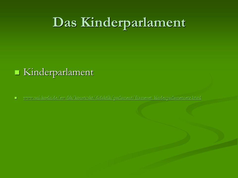 Das Kinderparlament Kinderparlament
