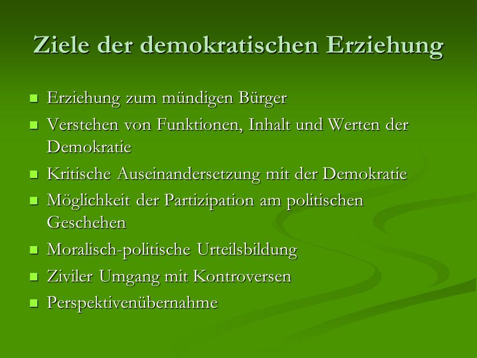 Ziele der demokratischen Erziehung