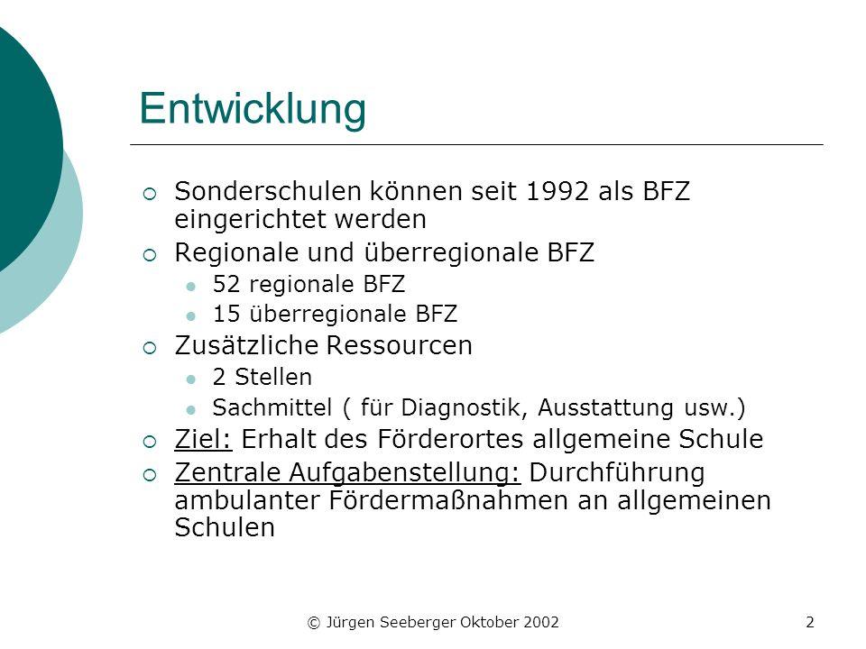 Sonderpädagogische Förderzentren in Hessen - Mai 2002
