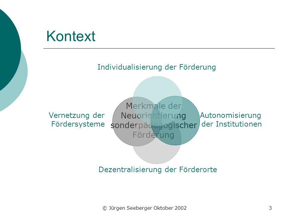 Kontext Merkmale der Neuorientierung sonderpädagogischer Förderung