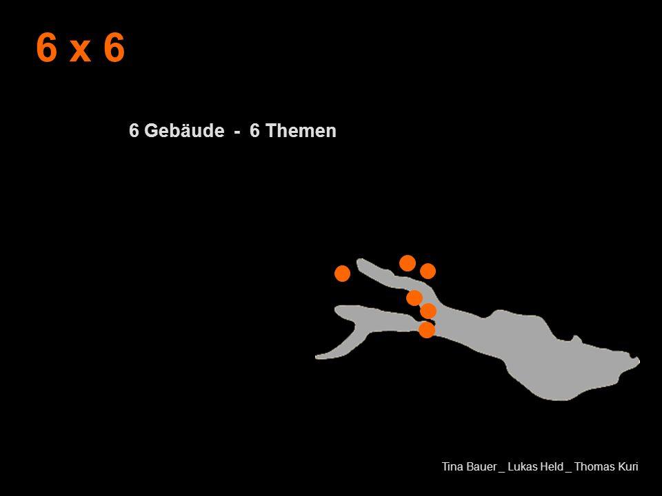 6 x 6 6 Gebäude - 6 Themen Tina Bauer _ Lukas Held _ Thomas Kuri