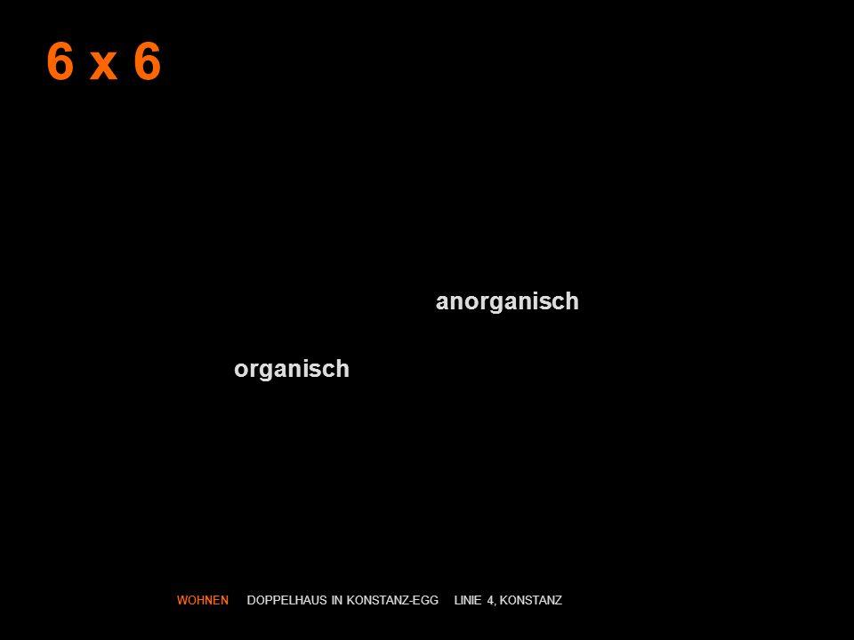 6 x 6 anorganisch organisch