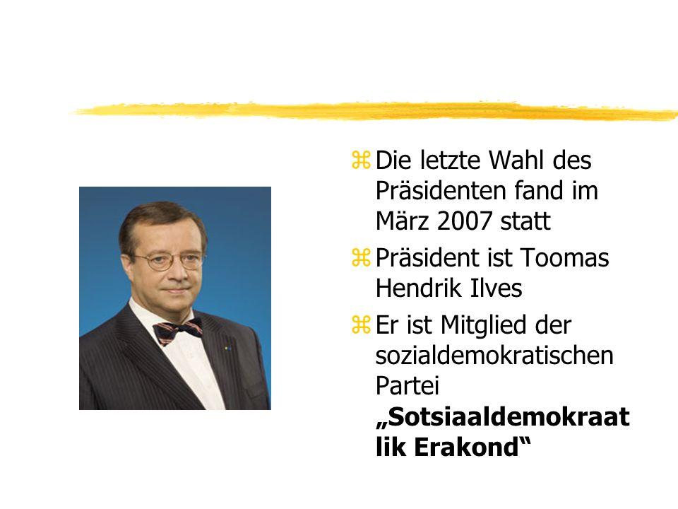 Die letzte Wahl des Präsidenten fand im März 2007 statt