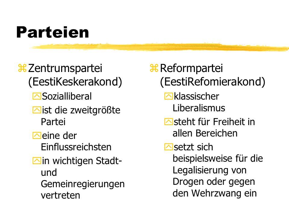 Parteien Zentrumspartei (EestiKeskerakond)