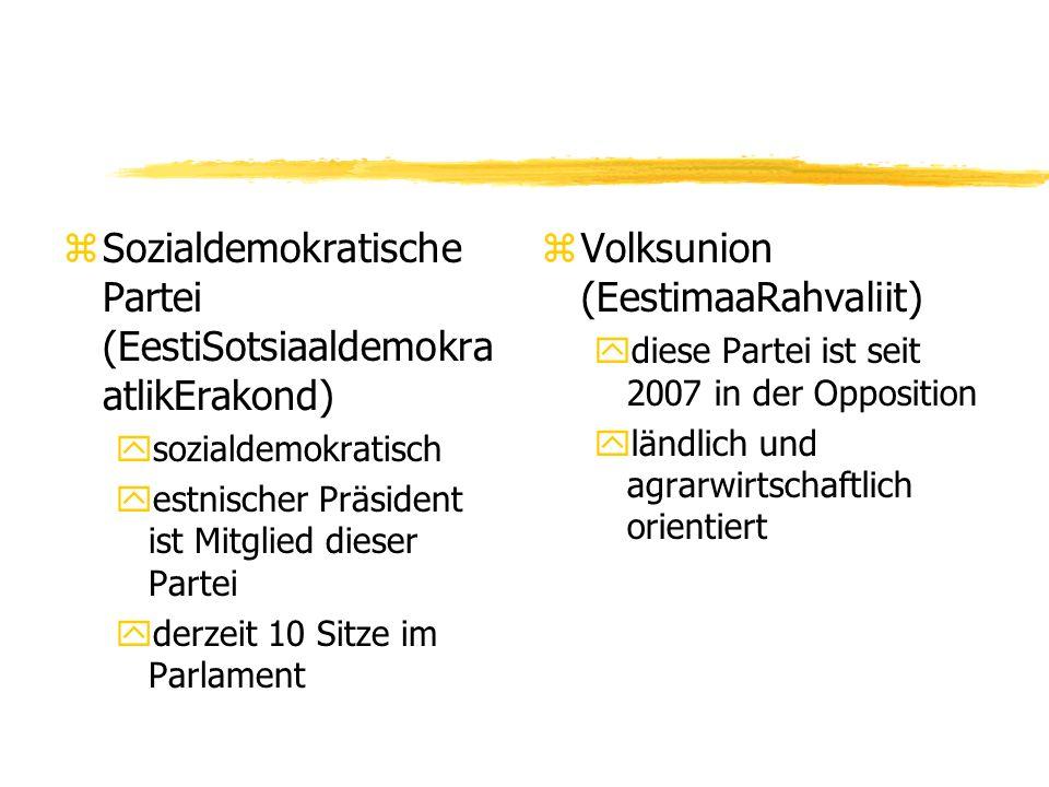 Sozialdemokratische Partei (EestiSotsiaaldemokraatlikErakond)