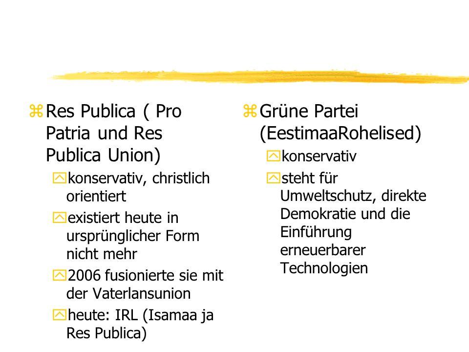 Res Publica ( Pro Patria und Res Publica Union)