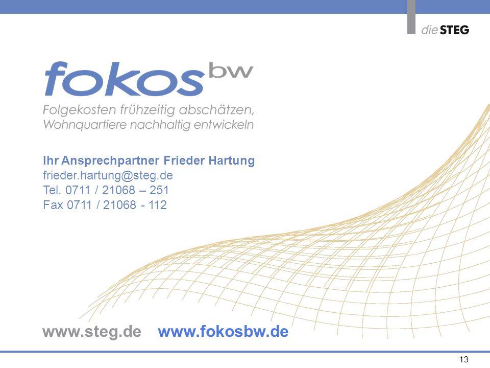 www.steg.de www.fokosbw.de Ihr Ansprechpartner Frieder Hartung