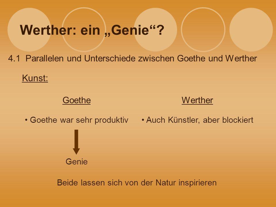 """Werther: ein """"Genie Kunst:"""