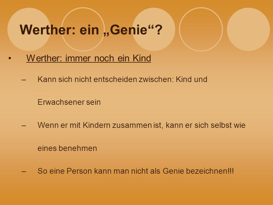 werther ein genie ppt video online herunterladen. Black Bedroom Furniture Sets. Home Design Ideas