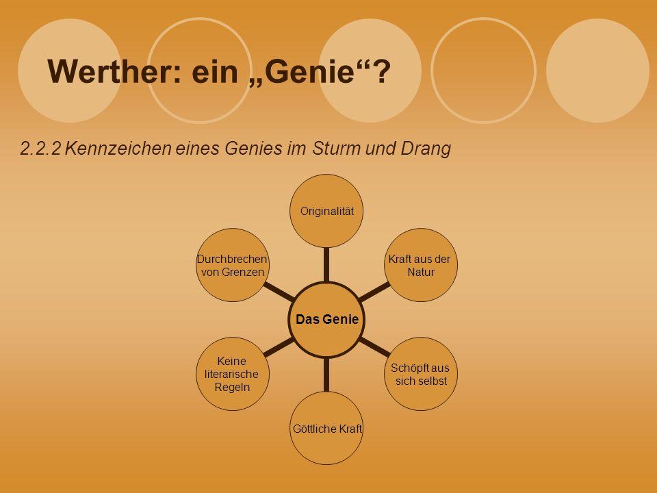 """Werther: ein """"Genie 2.2.2 Kennzeichen eines Genies im Sturm und Drang"""