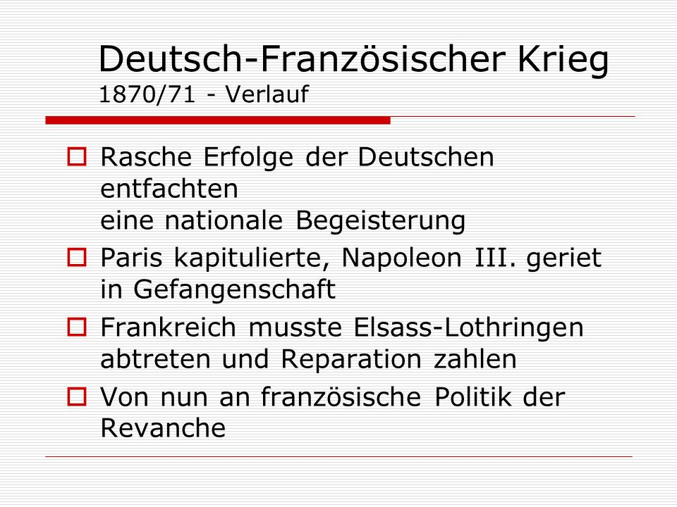 Deutsch-Französischer Krieg 1870/71 - Verlauf