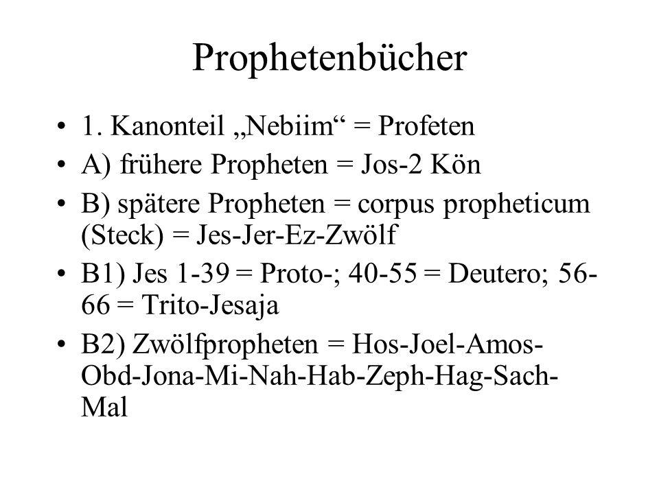 "Prophetenbücher 1. Kanonteil ""Nebiim = Profeten"
