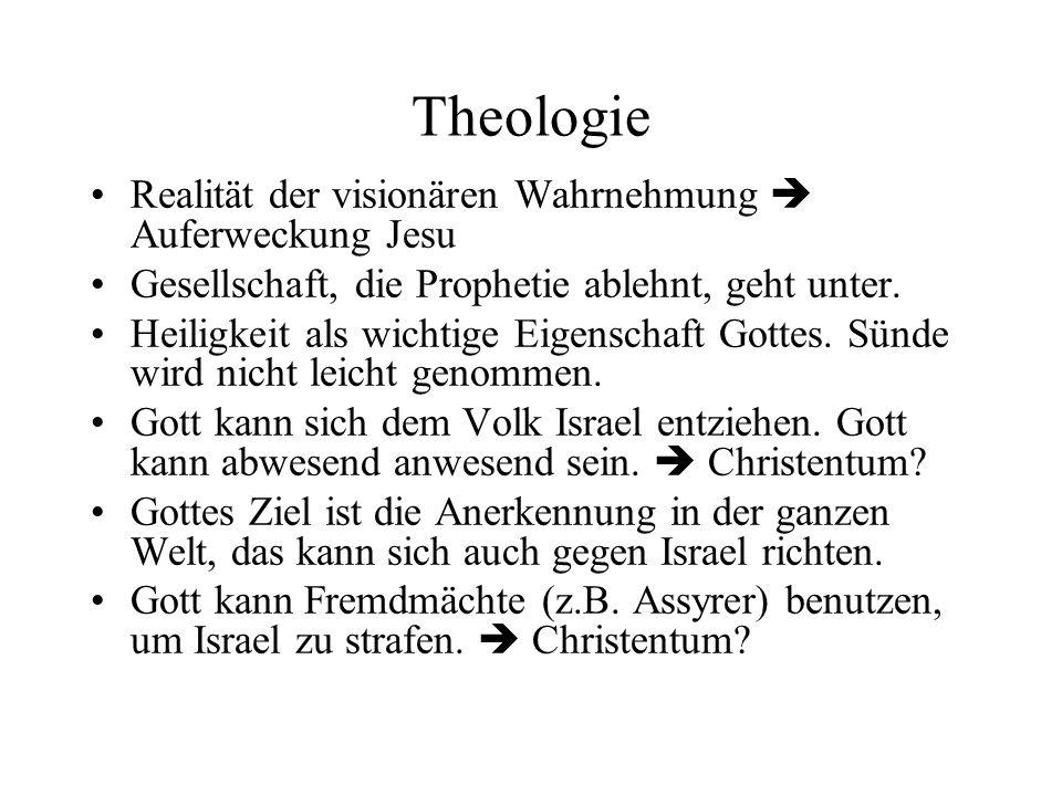 Theologie Realität der visionären Wahrnehmung  Auferweckung Jesu