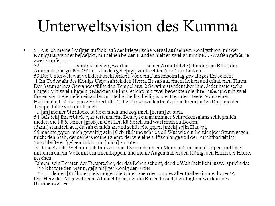 Unterweltsvision des Kumma