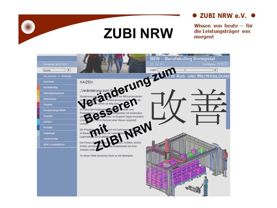ZUBI NRW Veränderung zum Besseren mit ZUBI NRW