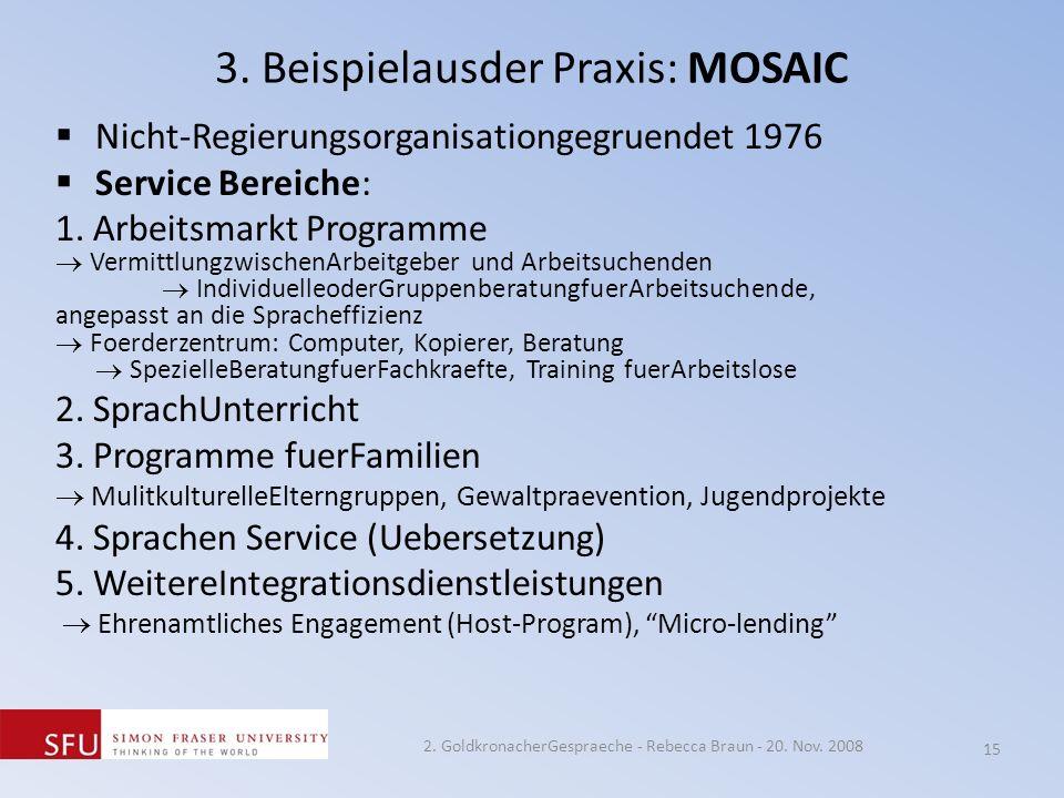 3. Beispielausder Praxis: MOSAIC