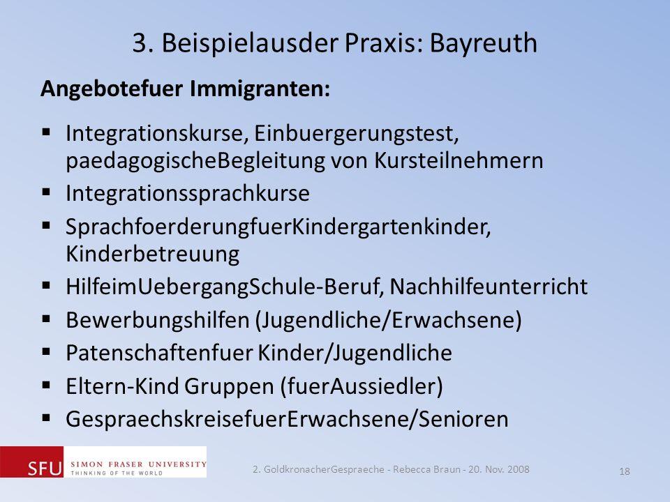 3. Beispielausder Praxis: Bayreuth