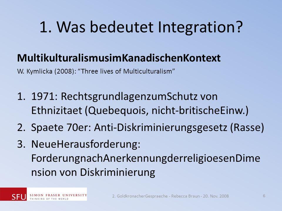 1. Was bedeutet Integration