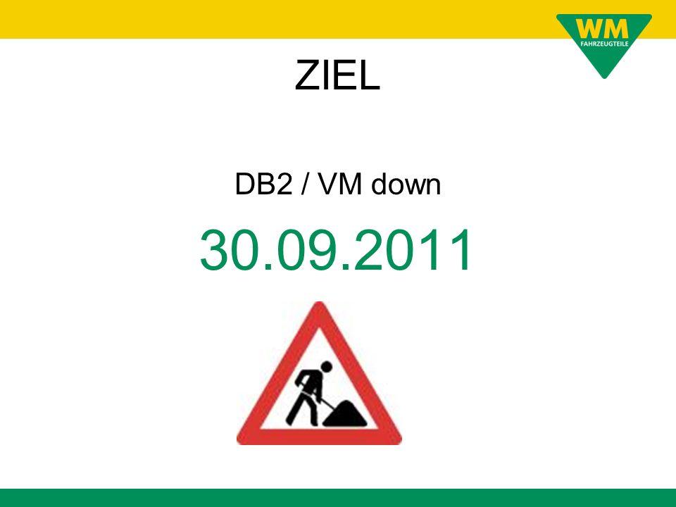 ZIEL DB2 / VM down 30.09.2011