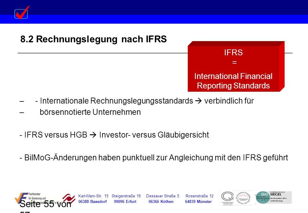 8.2 Rechnungslegung nach IFRS