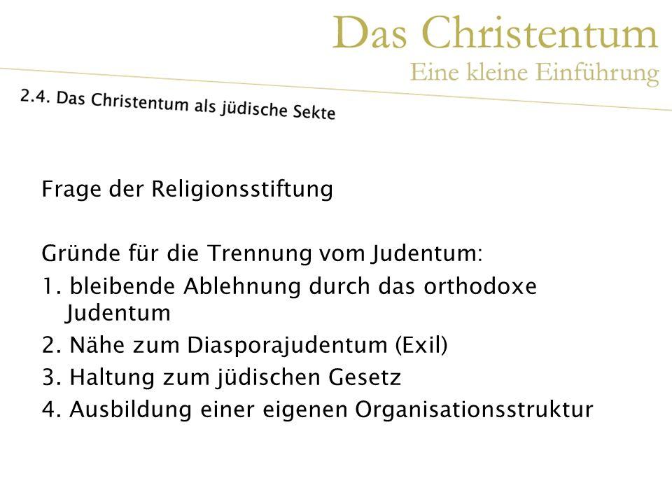 Frage der Religionsstiftung