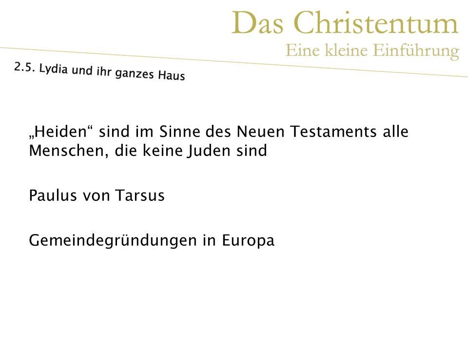 """""""Heiden sind im Sinne des Neuen Testaments alle Menschen, die keine Juden sind"""