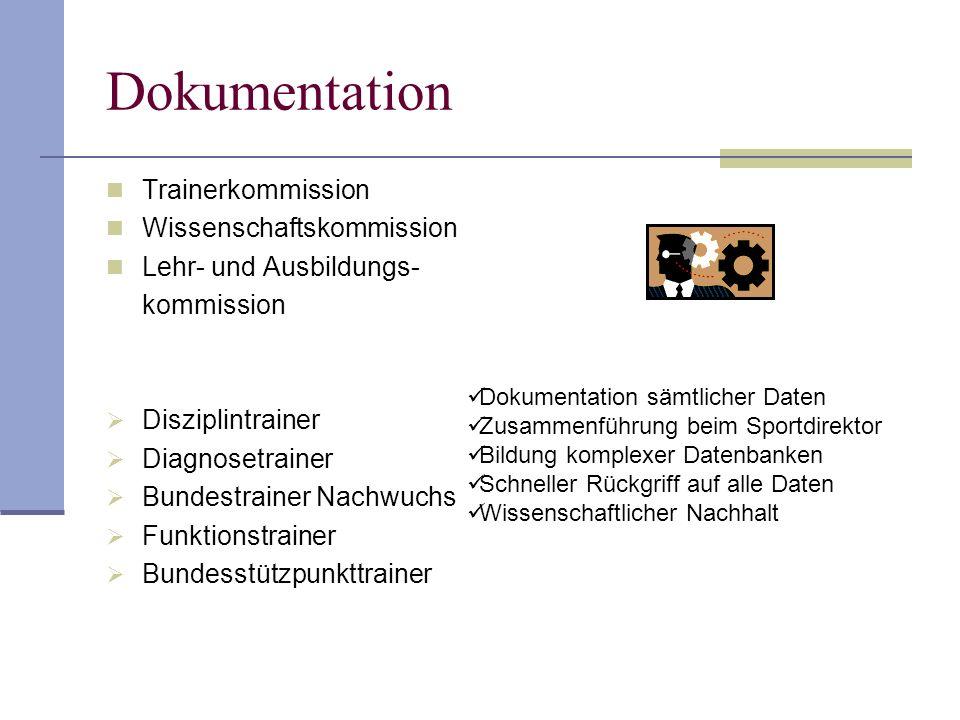 Dokumentation Trainerkommission Wissenschaftskommission