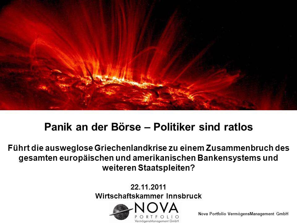 Panik an der Börse – Politiker sind ratlos Wirtschaftskammer Innsbruck