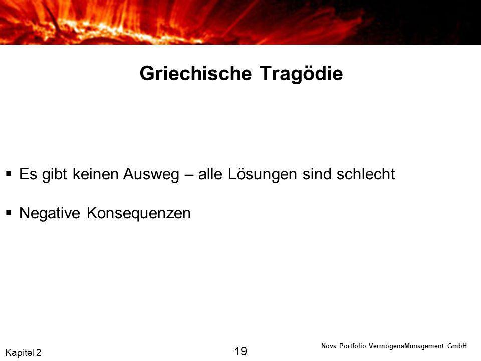 Griechische Tragödie Es gibt keinen Ausweg – alle Lösungen sind schlecht. Negative Konsequenzen. 19.